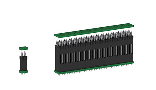 flexilink Board-to-Board Connections in Press-fit